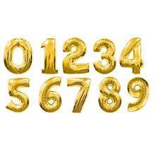 Цифры 80 см. золото