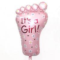 Шарик нога It's a Girl(розовая)