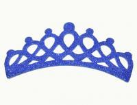 №1019 Заготовка корона фоамиран синяя