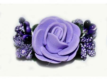 №1029 Заколка Цветок фиолетовая