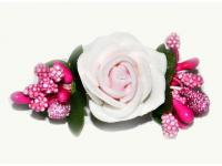 №1030 Заколка Цветок розовая