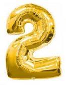 Цифра 2 большая 100см золотая FLEXMETAL