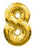 Шарик Цифра 8 золотая