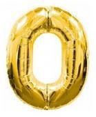 Цифра 0 большая 100см золотая FLEXMETAL