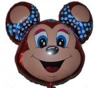 Шарик мишка с бантиком (малиновый) FLEXMETAL 901572