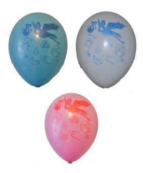 """Детский праздник розовый, голубой  и белый 12""""(30см)"""