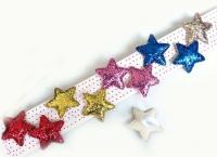 №1069 Резинка кабошон звезда разноцветная
