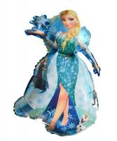 Шарик  Принцесса Эльза 80 см. с снежинкой(летает)