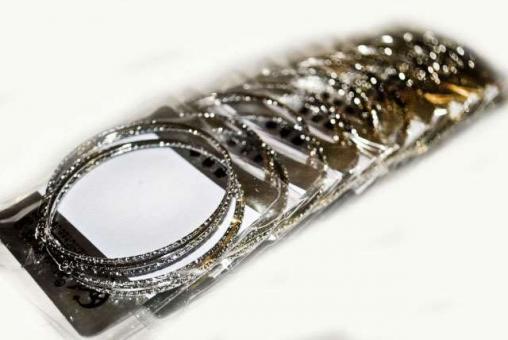 №1089 Сережки кольца серебро