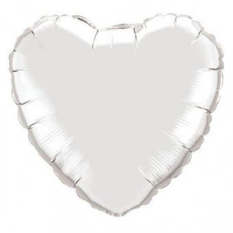 Сердце 32 дюймов(97х72см) серебро FLEXMETAL