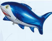 Шарик фольгированный акула(синяя)