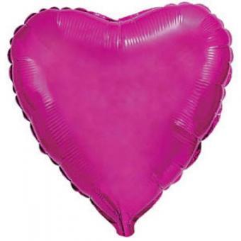 Сердце 18 дюймов(45х45см) малиновое Китай