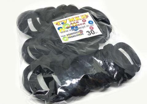 №1136 Резинка черная 30-ка, диам. 4.5см