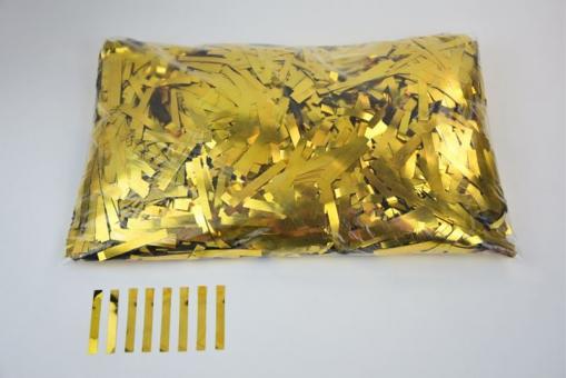 Конфети в шарики полоски золотые 0,5х4см(100грамм)