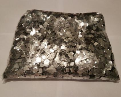 Конфети в шарики квадратики серебро 6х6мм(100грамм)