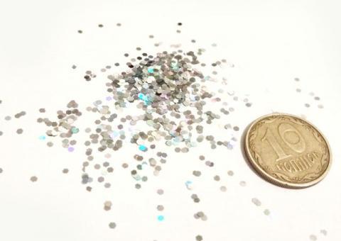 Блестки серебро