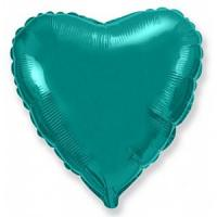 Сердце 18 дюймов(45х45см) аквамарин(бирюза) FLEXMETAL