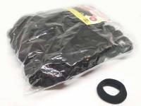 №135 Резинка микрофибра черная 100, диам. 2,3 см