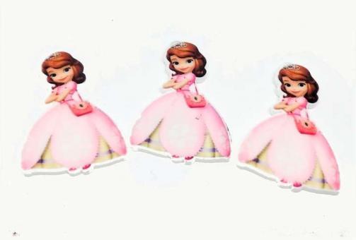 №1354 Кабошон-серединка принцесса розов.платье