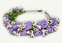 №1381 Обруч с цветами