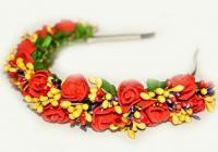 №1382 Обруч с цветами