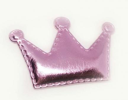 №146 кабошон корона розовая 10шт