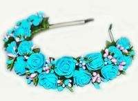 №223 Обруч с цветами