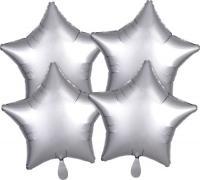 Звезда(мини) 9 дюймов(24*25 см) серебро Китай от 5шт