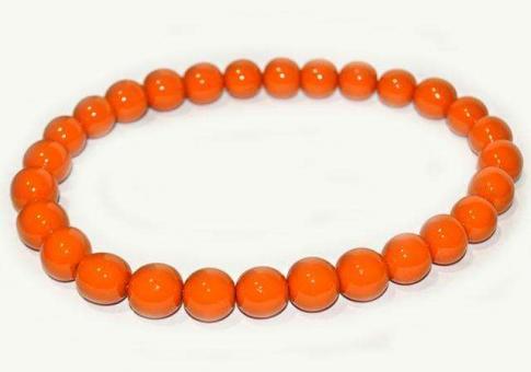 №42 Бусы дерево оранжевые