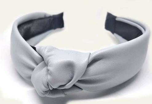 №5006 Обруч экокожа серый, шир.4см
