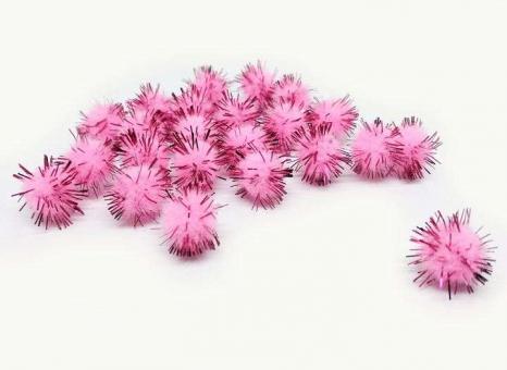 №56493 Шарики с люрексом розовые 200шт
