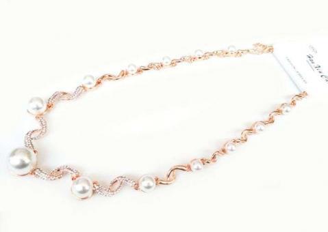 №5895 Ожерелье золото короткая цепочка