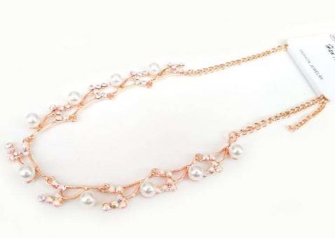 №5896 Ожерелье золото короткая цепочка
