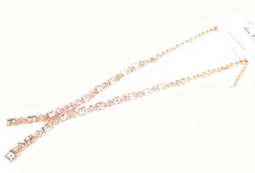 №5899 Ожерелье золото короткая цепочка