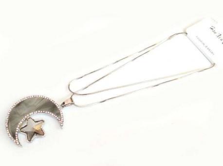 №5909 Ожерелье месяц длинная цепочка