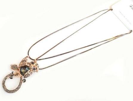 №5911 Ожерелье сова золото длинная цепочка