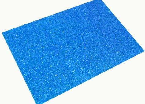 №636 Фоамиран синий 10листов