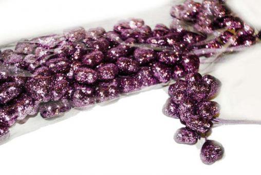 №722 Сердечки фиолетовые, 12шт
