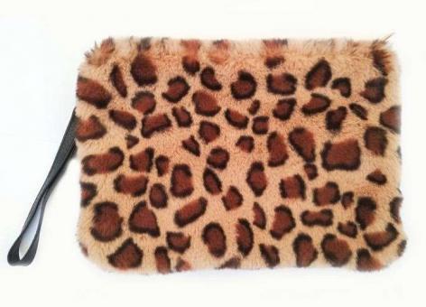 №770 Сумка гепард св.коричневый мех