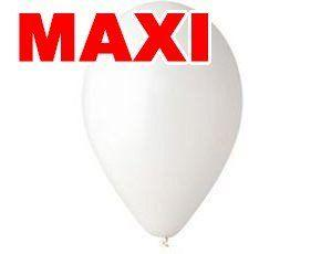 Шары Gemar MAXI Белые , пастельные 10″ (26см) 500шт.