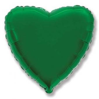 Сердце 18 дюймов(45х45см)  зеленое FLEXMETAL