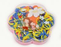 №862 Резинки для браслетов 6шт Цветочек Украина 049