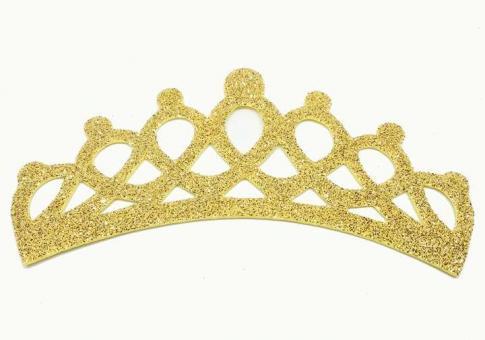 №991 Заготовка корона фоамиран золото