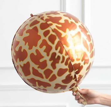 Фольга 3Д сфера Жираф (коричневая)