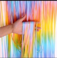 Шторка (дождик) из фольги для фотозон разноцветная(омбре), 1х2 м