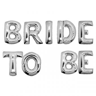 """Надпись BRIDE TO BE 16""""(40см) серебро"""