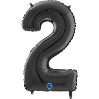 "Цифра ""2"" черная Grabo(Грабо) 100см.  (УП)"
