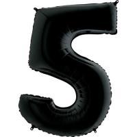 "Цифра ""5"" черная Grabo(Грабо) 100см.  (УП)"
