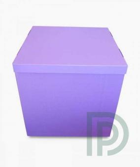 Коробка-сюрприз сиреневая 50х50см. (для шариков)