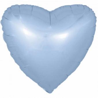 Сердце 18 дюймов(45х45см)  голубое FLEXMETAL
